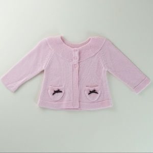 EUC, Baby Gap, Pink Knit Cardigan sweater Sz. 0-3M